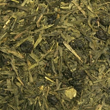 SENCHA MYRTILLE 100g - Thé vert arômatisé