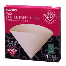 40 Filtres M03 Cônique en papier naturel pour Hario V60