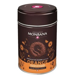Orange - Chocolat en poudre 250grs Monbana
