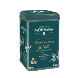 Le Chocolat chaud de Noël 250g - Boite métal chocolat en poudre Monbana