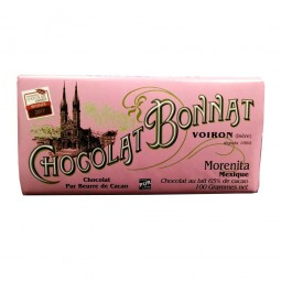 Morienta Mexique Lait 65% - Tablette de chocolat au lait 100g Bonnat