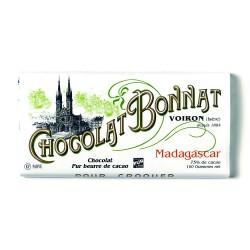Madagascar Noir 75% - Tablette de chocolat noir 100g Bonnat