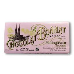 Madagascar Criollo 75% - Tablette de chocolat noir 100g Bonnat