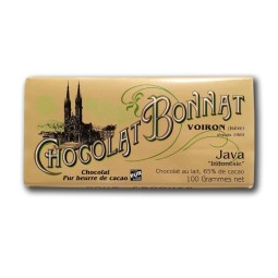 Indonésie Java Lait 65% - Tablette de chocolat au lait 100g Bonnat