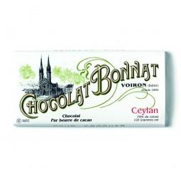 Asie Ceylan Noir 75% - Tablette de chocolat noir 100g Bonnat