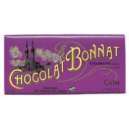 Cuba Noir 75% - Tablette de chocolat noir 100g Bonnat