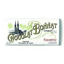 Équateur Noir 75% - Tablette de chocolat noir 100g Bonnat