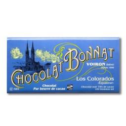 Équateur Los Colorados Noir 75% - Tablette de chocolat noir 100g Bonnat